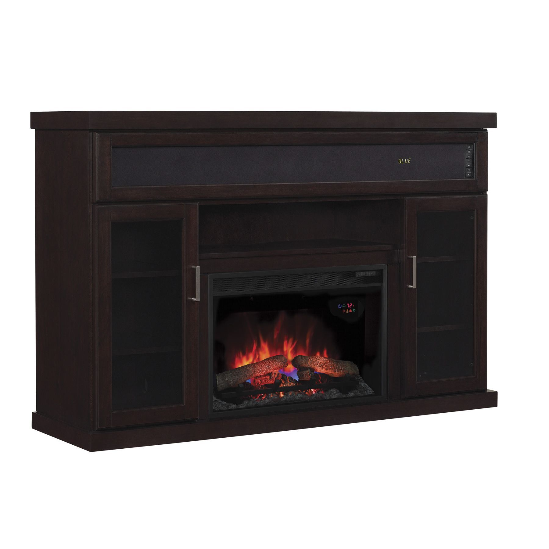 best black fireplace tv stand