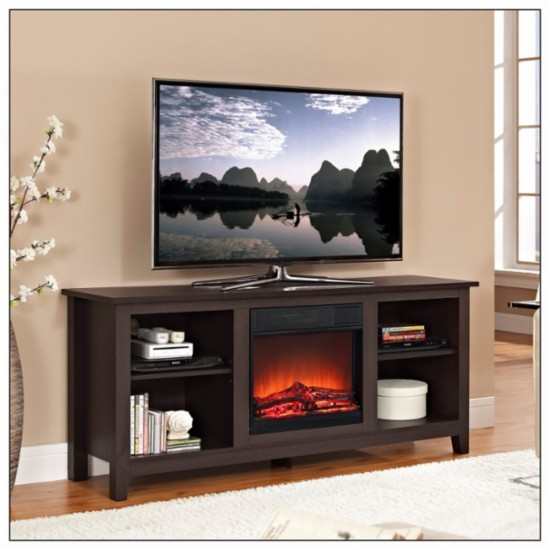 Best Black Electric Fireplace TV Stand Of 2016-Do Not Buy Any Black Fireplace TV Stand Until You Read this